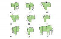 Денежный слоник оригами