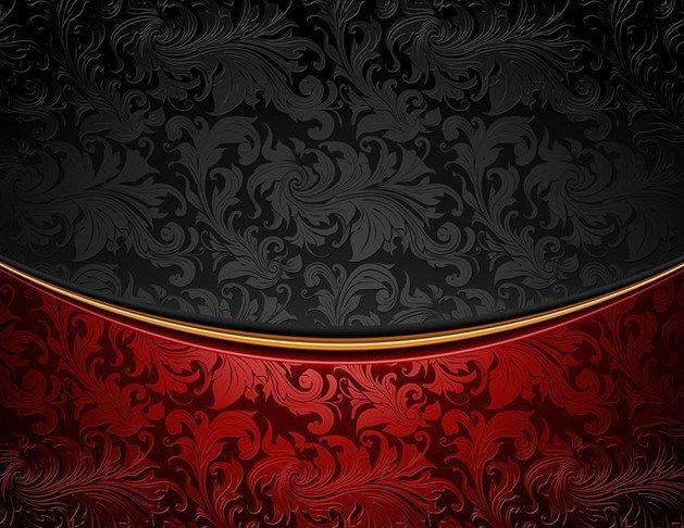Free Vintage Red Black Floral Background Vector Titanui Vector Background Pattern Background Patterns Floral Background