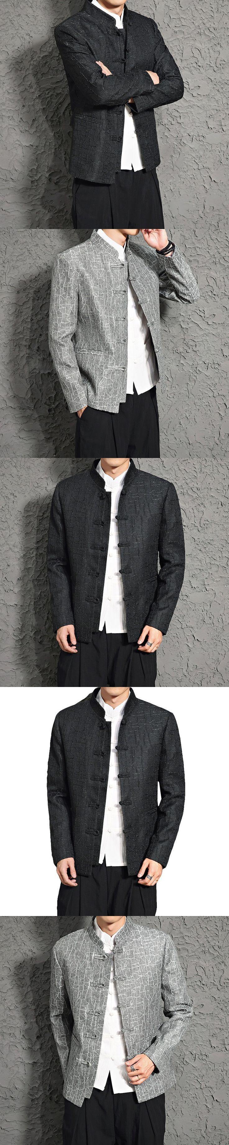 2017 Hot Sale Regular Half Men Blazer Blazer Masculino New Winter Coat, Men Wind Linen Suit Slim Chinese Costume