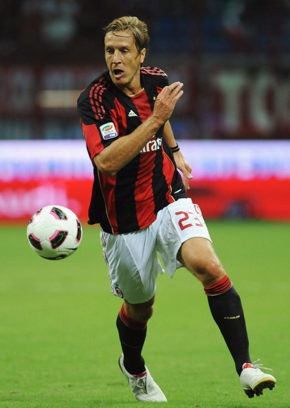 Massimo Ambrosini (born 29 May 1977 in Pesaro, Marche) is an Italian professional footballer who plays as a midfielder and is the captain of Serie A club Milan. He is well known for his aerial ability, passing and tackling.