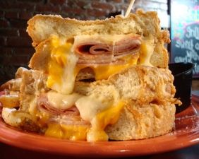 My sandwich from Melt Bar and Grilled - Westside Monte Cristo