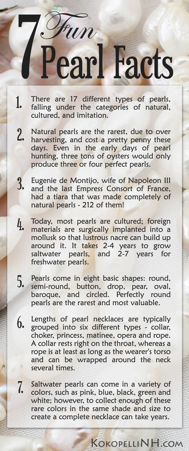 Seven Fun Facts About Pearl Jewelry | My Style