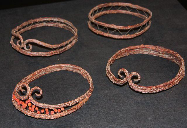 Tiaras made of birchtwigs and wire. www.risusta.fi