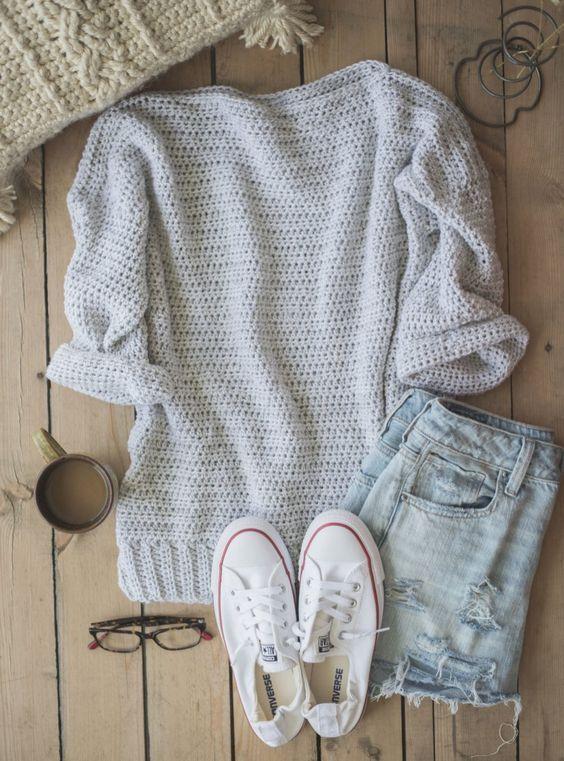 Padrões livres de camisola de crochê - Womens Clothing