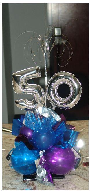 Balloon centerpiece centerpieces tablescapes