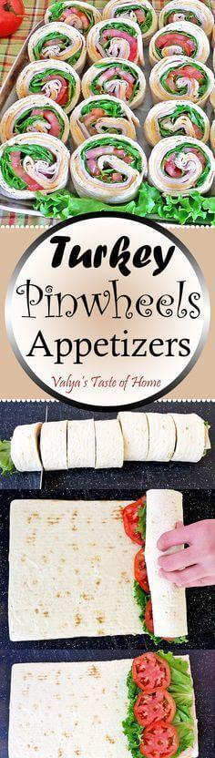 Quick & Easy Turkey Pinwheels Appetizers Recipe