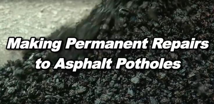 This video from @quikrete makes it easy to learn how to permanently repair potholes in your asphalt driveway before winter makes them worse!