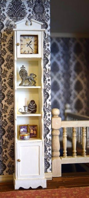 Nature's Soul Miniatures: Miniature grandfather clock shelf -done with mat board