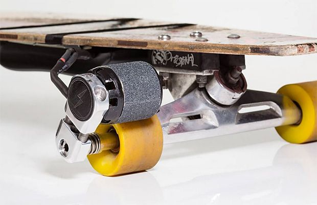 The crew at Kickr developed an easy way to convert your existing longboard into an electric vehicle that will do 20mph.