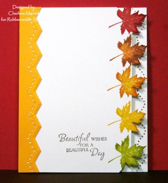 FS Cut Leaf Border CKM by LilLuvsStampin - Cards and Paper Crafts at Splitcoaststampers