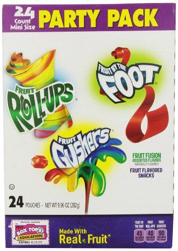 General Mills Party Pack Fruit Fusion Assorted Flavors 24 count 996 oz Pack of 3 -- Continue to the product at the image link.