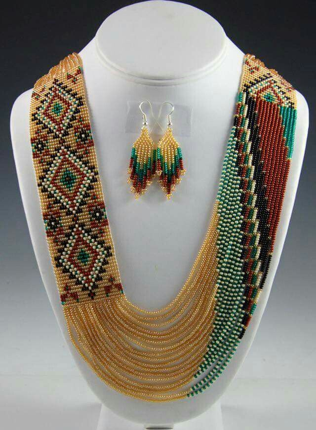 Loomed swag necklace posted by Takihanem on Facebook.