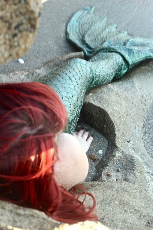 ♒ Mermaids Among Us ♒ art photography paintings of sea sirens & water maidens - ginger mermaid