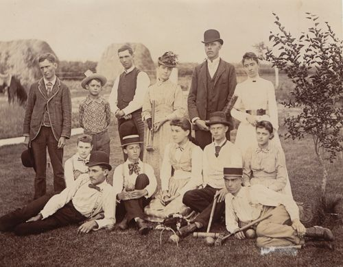 Fred & Alice Richardson - croquet party by JustDerek, via Flickr