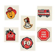FIREMAN PARTY FAVOUR Fire Dept Tattoos Temporary Tattoo  Pack of 36 Free Postage