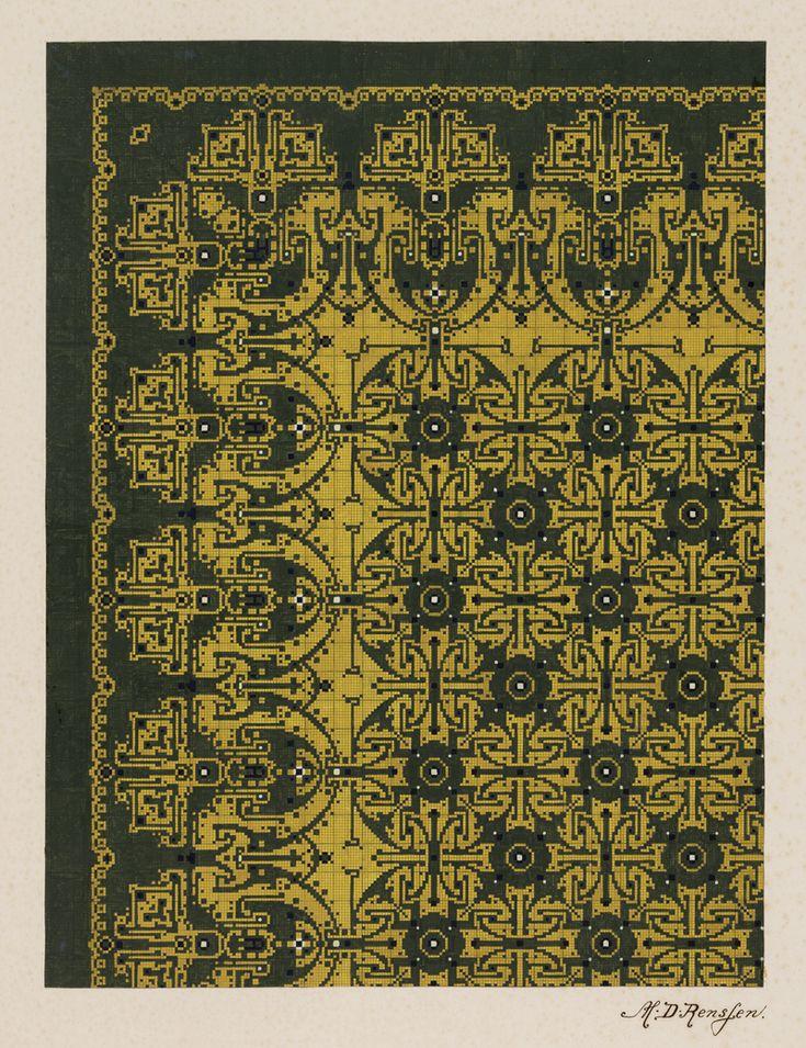 High Quality Carpet Design By M.D. Renssen,1903 / 1914. Deventer Musea, CC BY