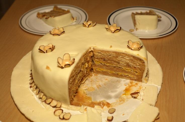 Torta de mil hojas con manjar (receta chilena)   En mi cocina hoy