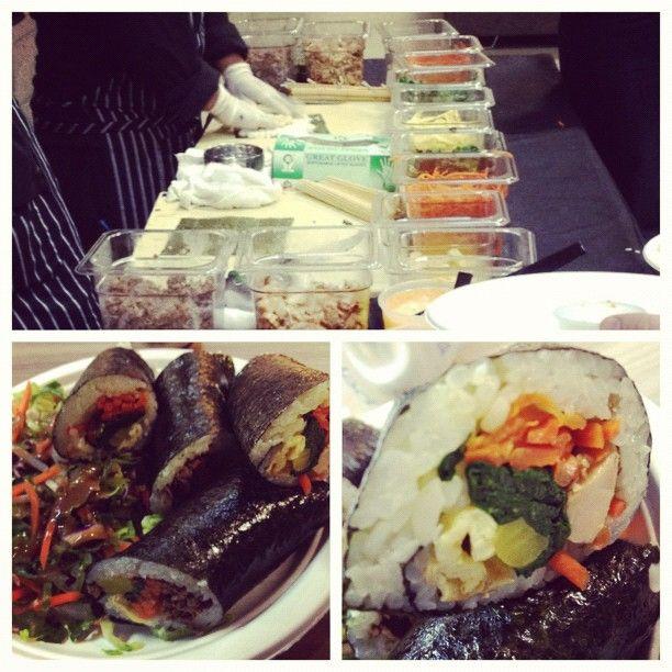 Make your own Kimbap rolls! -- @shinranshoni: Kimbap Rolls, Asian Food, Kameron Kitajima, Klout Eating