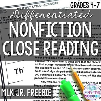 Martin Luther King, Jr.Martin Luther King, Jr. Day is the third Monday of January, and this close reading activity would be a perfect way to learn all about his role in the civil rights movement.I have used these close reading texts with my own fifth graders to promote more meaningful interactions with text.
