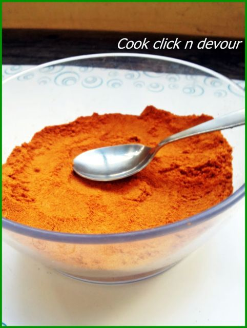 Sambar powder recipe: A good sambar powder is the key to make perfect sambar and also you can use it in various recipes,here is a tried and tested recipe for making perfect tambram style sambar powder,recipe @ http://cookclickndevour.com/2013/06/sambar-powder-tambrahm-style.html