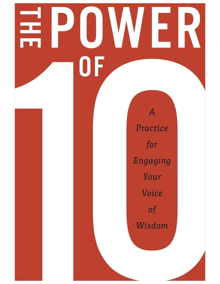 """""""There are few books that someone could say were transformational...but this just may be one of them.""""   The Power of 10: A Practice of Engaging Your Voice of Wisdom: The Power of 10 is a very unique, worthy addition to the self-help genre, one that almost anyone could benefit from...."""
