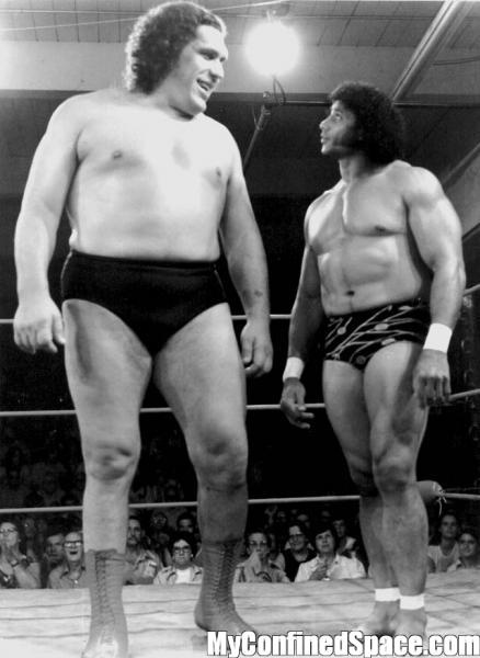"""Andre The Giant and Jimmy """"Superfly"""" Snuka"""