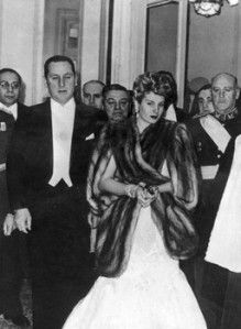 Eva Peron (R) and her husband, Argentine