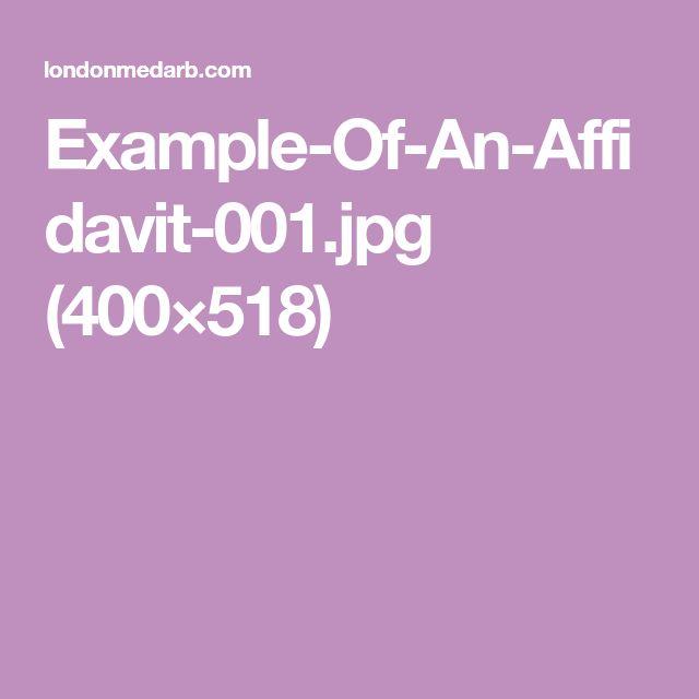 8 best Affidavit images on Pinterest Design resume, Resume - affidavit of truth template
