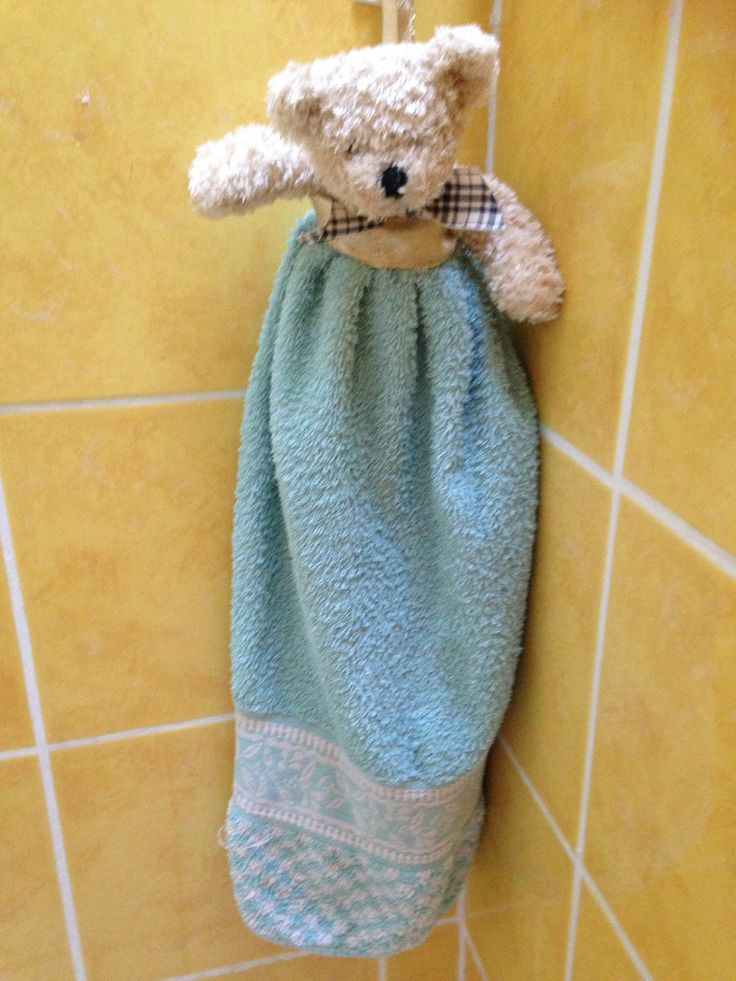 #tuto #facile Couture avec un doudou et j'ai pris 1/2 serviettes à main quelques points de #couture plus tard c'est finit ❤️  Le tout donne une serviette beaucoup plus mignonne et attrayante !