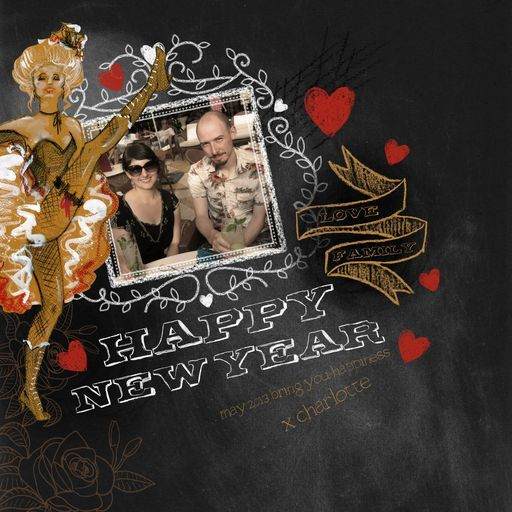 Charlotte T-M in Vegas - a happy new year scrapbook!  'HappyNewYear.craft, a project by CharlotteAnne'