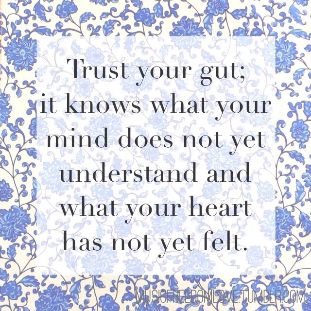 Go With Your Gut Quotes. QuotesGram