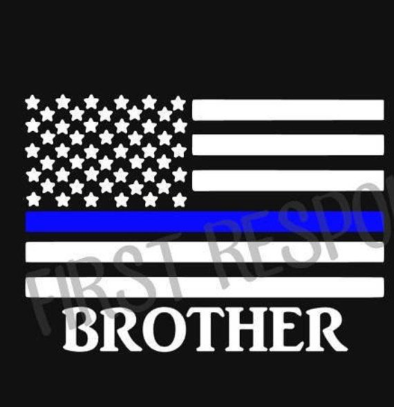 Brother in Blue Thin Blue Line Decal Police Decal Blue Lives