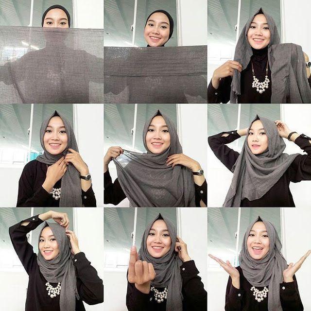 Tutorial Hijab Pashmina Simple Untuk Kebaya Cara Lif Co Id