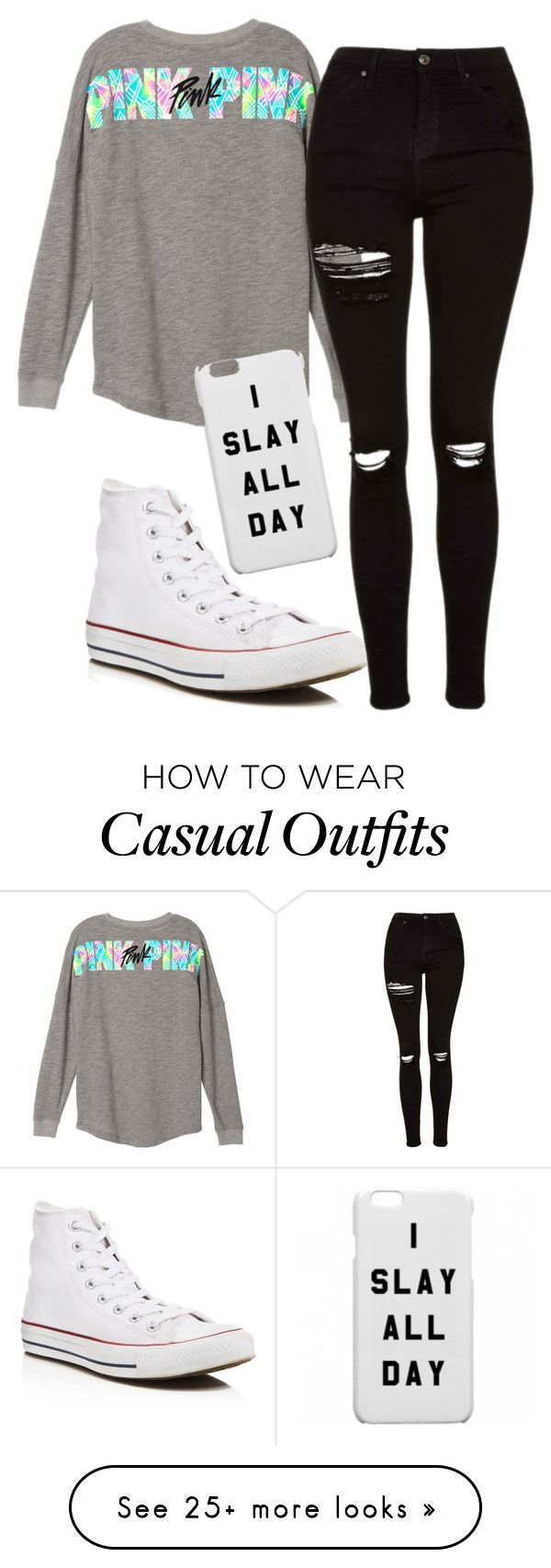 """Casual Chic "" by deshae27 on Polyvore featuring Topshop and Converse"