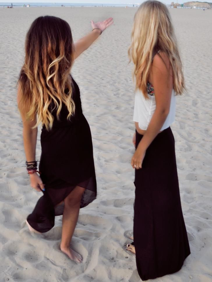 Ombre Hair Color - contrasts at the beach   Hair colour ...