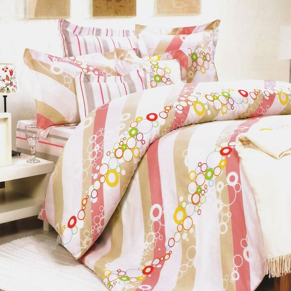 [Pink Princess] 100% Cotton 7PC Bed In A Bag (Full Size)