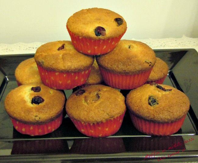 Muffin ai mirtilli rossi-Così cucino io