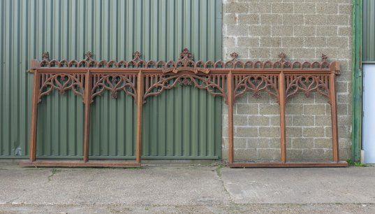 Lyndhurst Gothic Carved Oak Screen * - My Store