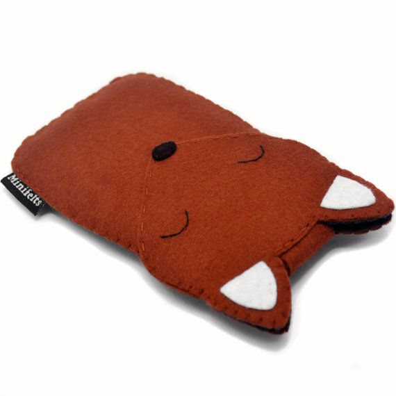 Fox iPhone Case - iPhone 4 Case - iPod Case - iPod Touch Case - Handmade iPod Felt Case - Cute Fox - iPod Touch 5 Cover