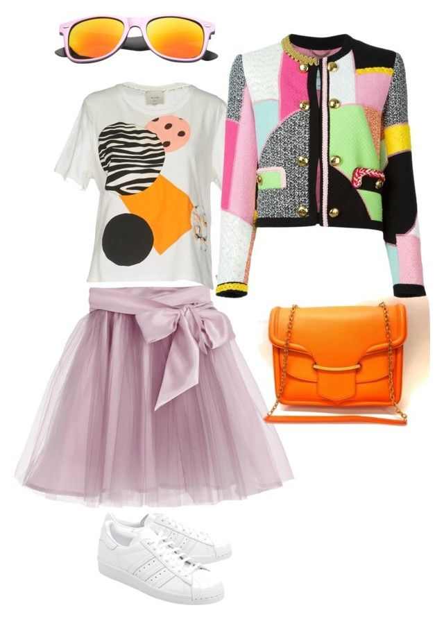 лаванда by irina-shtyrova on Polyvore featuring мода, Alysi, Moschino, Little Wardrobe London, adidas Originals, Alexander McQueen and SW Global