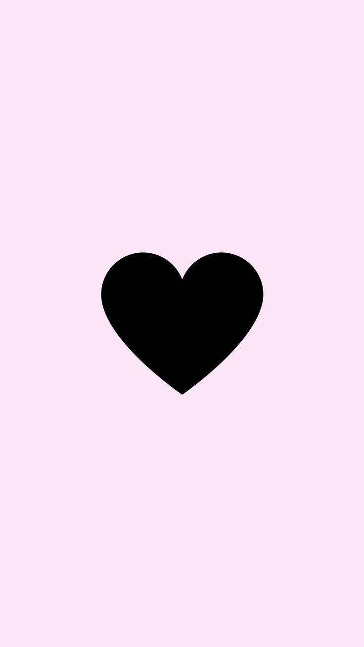 Картинки маленькие сердечки черные