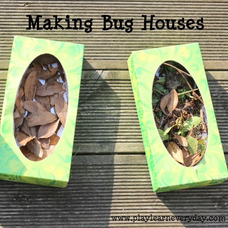 A fun way to keep the kids busy making houses for bugs in the garden out of simple materials.