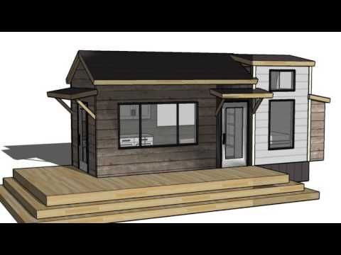 ana white build a tiny house loft with bedroom guest bed storage and shelving free and. Black Bedroom Furniture Sets. Home Design Ideas
