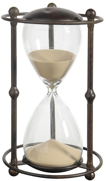 1 Hr. Hourglass Sand Timer In Stand Tan 12.5""""