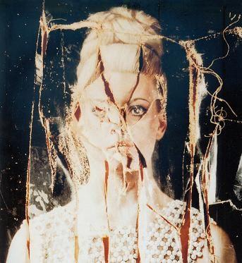 Carel Willink - 'Portret van Mathilde in het parelhesje' cut to pieces by Mathilde - 1975
