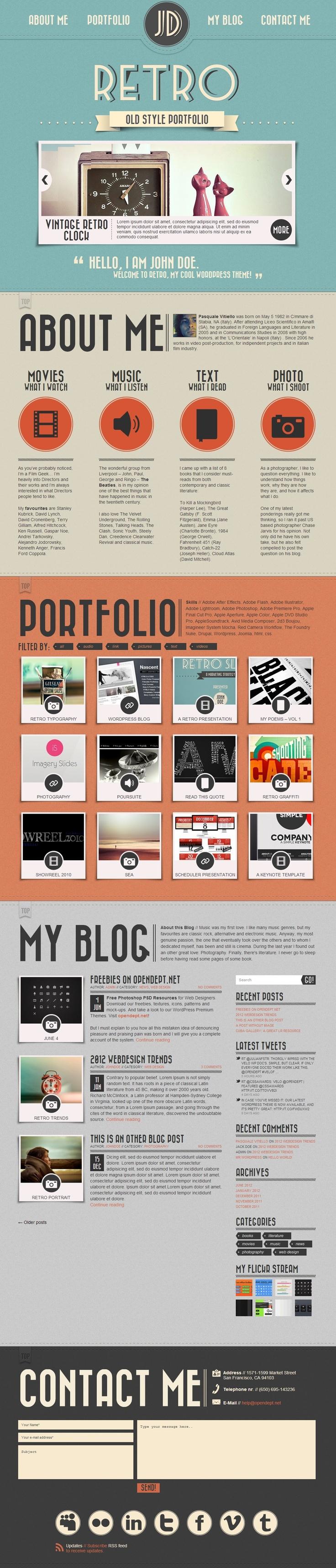20 Thèmes WordPress pour créer un blog retr