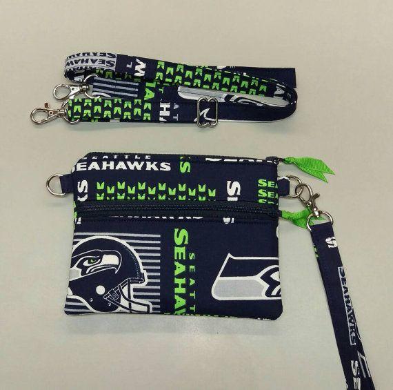 Seattle Seahawks NFL stadium size combo wristlet/cross body