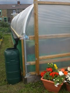 polytunnel with rain collection
