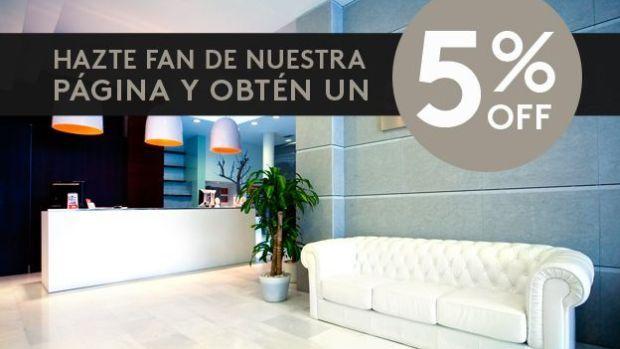 ValenciaFlats te hace un exclusivo descuento de un 5% en todos nuestros apartamentos sólo por hacerte fan de nuestra página en Facebook.
