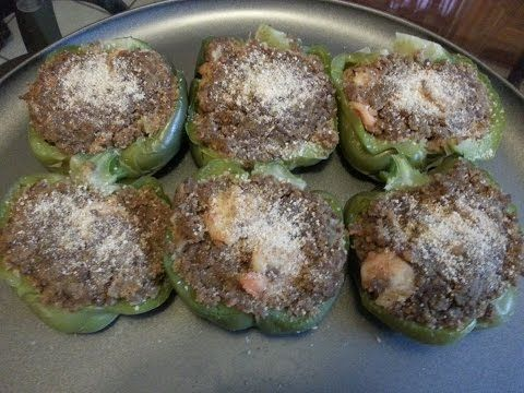 New Orleans Stuffed Bell Peppers